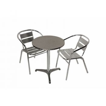 Aluminium Round Two Seater Bistro Set D60cm