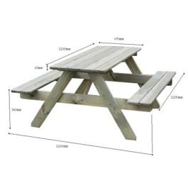 Childrens Pine Picnic Table