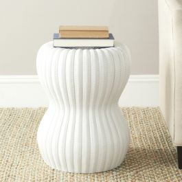 Majorca Indoor / Outdoor Garden Stool - White