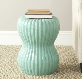 Majorca Indoor / Outdoor Garden Stool - Soft Turquoise
