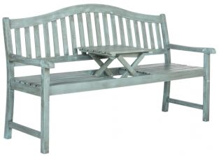 Bailey Outdoor Bench - Coastal Blue