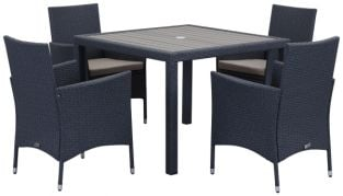 Amalfi Outdoor 5-Piece Living Set - Titanium & Sand