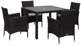 Amalfi Outdoor 5-Piece Living Set - Ebony & Sand