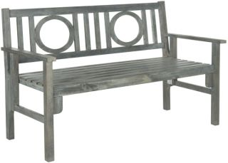 Marseille Outdoor Folding Bench - Ash Grey