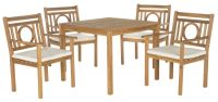 Mendoza Outdoor 5-Piece Living Set - Teak Brown