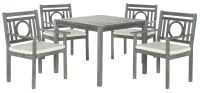 Mendoza Outdoor 5-Piece Living Set - Ash Grey