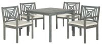 Riva Outdoor 5-Piece Dining Set - Ash Grey