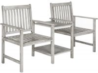 Marseille Outdoor Twin Seat Bench - Ash Grey