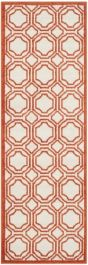 Ferrat  Indoor/Outdoor Rug, 68 X 213 cm - Ivory & Orange