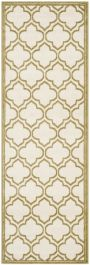 La Salis  Indoor/Outdoor Rug, 68 X 213 cm - Ivory & Light Green