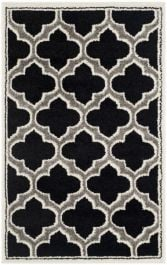 La Salis  Indoor/Outdoor Rug, 76 X 121 cm - Anthracite & Ivory