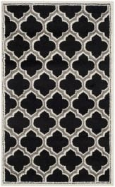 La Salis  Indoor/Outdoor Rug, 91 X 152 cm - Anthracite & Ivory