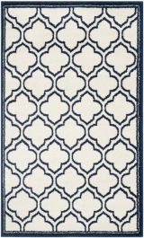 La Salis  Indoor/Outdoor Rug, 91 X 152 cm - Ivory & Navy