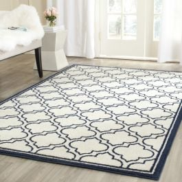 La Salis  Indoor/Outdoor Rug, 152 X 243 cm - Ivory & Navy