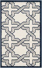 Barcares Indoor/Outdoor Rug, 76 X 121 cm - Ivory & Navy