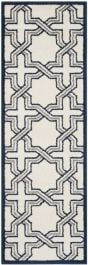 Barcares Indoor/Outdoor Rug, 68 X 213 cm - Ivory & Navy