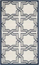 Barcares Indoor/Outdoor Rug, 91 X 152 cm - Ivory & Navy