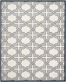 Barcares Indoor/Outdoor Rug, 243 X 304 cm - Ivory & Navy
