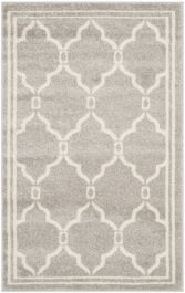 La Pelosa  Indoor/Outdoor Rug, 76 X 121 cm - Light Grey & Ivory