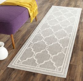 La Pelosa  Indoor/Outdoor Rug, 68 X 213 cm - Light Grey & Ivory
