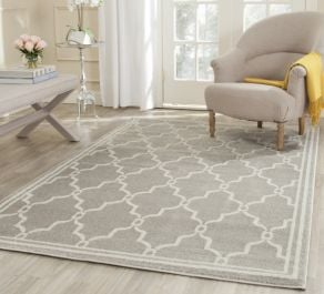 La Pelosa  Indoor/Outdoor Rug, 152 X 243 cm - Light Grey & Ivory