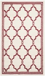 La Pelosa  Indoor/Outdoor Rug, 91 X 152 cm - Ivory & Red