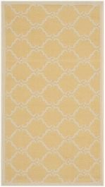 Lugano Multipurpose Indoor/Outdoor Rug, 60 X 109 cm - Yellow & Beige