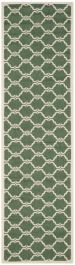 Lugano Multipurpose Indoor/Outdoor Rug, 68 X 243 cm - Dark Green & Beige
