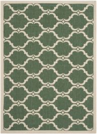 Lugano Multipurpose Indoor/Outdoor Rug, 121 X 170 cm - Dark Green & Beige