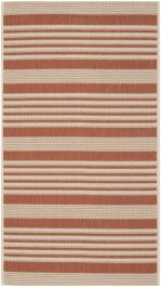Gemma Multipurpose Indoor/Outdoor Rug, 78 X 152 cm - Terracotta & Beige