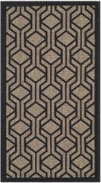 Catalonia Multipurpose Indoor/Outdoor Rug, 60 X 109 cm - Brown & Black