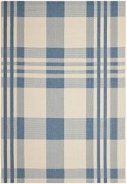 Mendez Multipurpose Indoor/Outdoor Rug, 160 X 231 cm - Beige & Blue