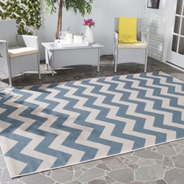 Chelsea Multipurpose Indoor/Outdoor Rug, 200 X 289 cm - Blue & Beige