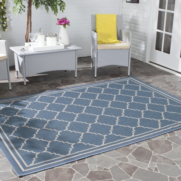 Chloe Multipurpose Indoor/Outdoor Rug, 160 X 231 cm - Blue & Beige