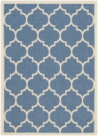 Monaco Multipurpose Indoor/Outdoor Rug, 121 X 170 cm - Blue & Beige