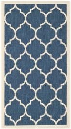 Monaco Multipurpose Indoor/Outdoor Rug, 78 X 152 cm - Navy & Beige