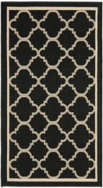 Bleeker Multipurpose Indoor/Outdoor Rug, 60 X 109 cm - Black & Beige
