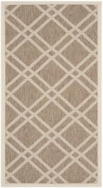 Marbella Multipurpose Indoor/Outdoor Rug, 78 X 152 cm - Brown & Bone