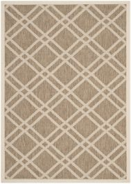 Marbella Multipurpose Indoor/Outdoor Rug, 121 X 170 cm - Brown & Bone
