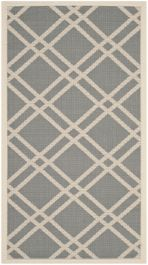 Marbella Multipurpose Indoor/Outdoor Rug, 60 X 109 cm - Anthracite & Beige