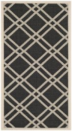 Marbella Multipurpose Indoor/Outdoor Rug, 78 X 152 cm - Black & Beige