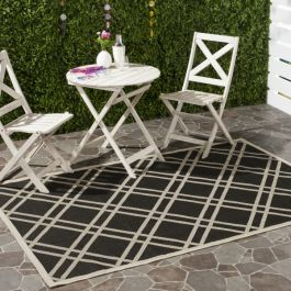 Marbella Multipurpose Indoor/Outdoor Rug, 160 X 231 cm - Black & Beige