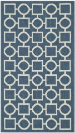 Capri Multipurpose Indoor/Outdoor Rug, 78 X 152 cm - Navy & Beige