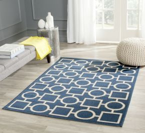 Capri Multipurpose Indoor/Outdoor Rug, 121 X 170 cm - Navy & Beige