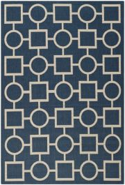 Capri Multipurpose Indoor/Outdoor Rug, 160 X 231 cm - Navy & Beige