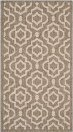 Mykonos Multipurpose Indoor/Outdoor Rug, 78 X 152 cm - Brown & Bone