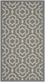Mykonos Multipurpose Indoor/Outdoor Rug, 78 X 152 cm - Anthracite & Beige