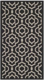 Mykonos Multipurpose Indoor/Outdoor Rug, 78 X 152 cm - Black & Beige