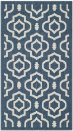 Mykonos Multipurpose Indoor/Outdoor Rug, 78 X 152 cm - Navy & Beige