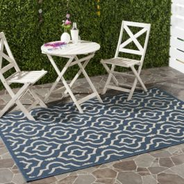 Mykonos Multipurpose Indoor/Outdoor Rug, 160 X 231 cm - Navy & Beige